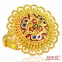 22K Gold Meenakari Ring