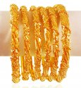 Click here to View - 22 Karat Gold Bangles Set (6 PCs)