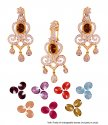 22k Exclusive Changeable Stones Set - Click here to buy online - 2,860 only..