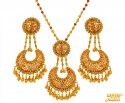 22 Kt Gold Pearl Pendant set - Click here to buy online - 2,069 only..