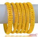 22K Gold Bangles (6 pcs ) - Click here to buy online - 5,555 only..