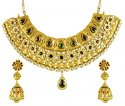 22k Gold Semi Antique Choker Set