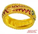 22Kt Gold Meenakari Ring  - Click here to buy online - 711 only..