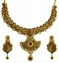22K Gold Antique Necklace Set - Click here to buy online - 7,957 only..