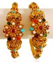 22Kt Gold Navratan Kadas(2pcs) - Click here to buy online - 3,529 only..