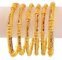 22k Exclusive Gold Bangles (6 Pc)