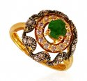 22k Gold Emerald Ring - Click here to buy online - 314 only..