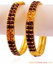 22K Gold Garnet Kada (Pair) - Click here to buy online - 3,284 only..