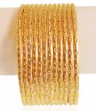 22kt Gold Rhodium Bangles (6 PC) - Click here to buy online - 3,591 only..