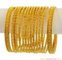 22k Filigree Bangles Set(Set of 6)