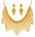 Click here to View - 22K Gold Traditional Necklace Set