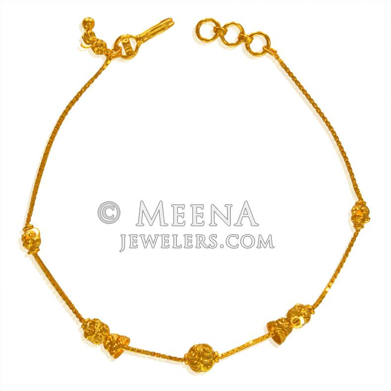 22Kt Gold Bracelet for Girls - brla23440 - US$ 355 - 22Kt Gold ...