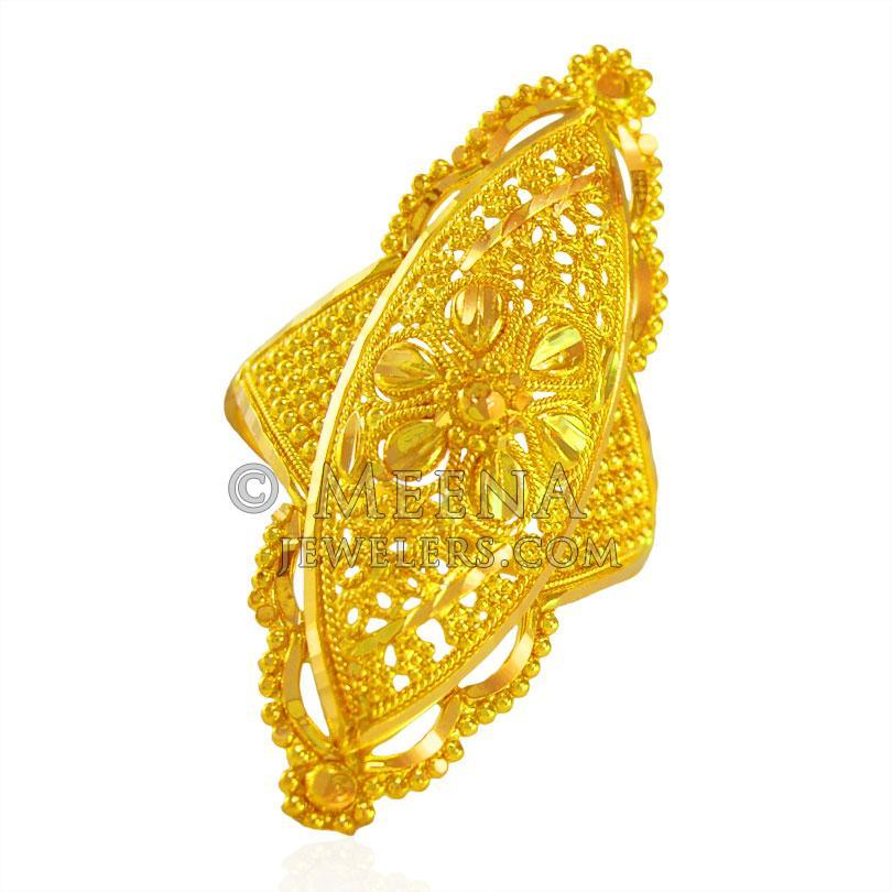 22k Gold Traditional Ladies Ring - Rilg22798 - 22k Gold ...