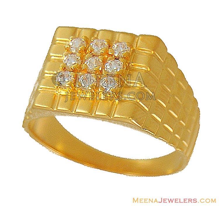 22K Gold Mens Ring (indian design) - RiMs9459 - 22Kt Mens Ring ...
