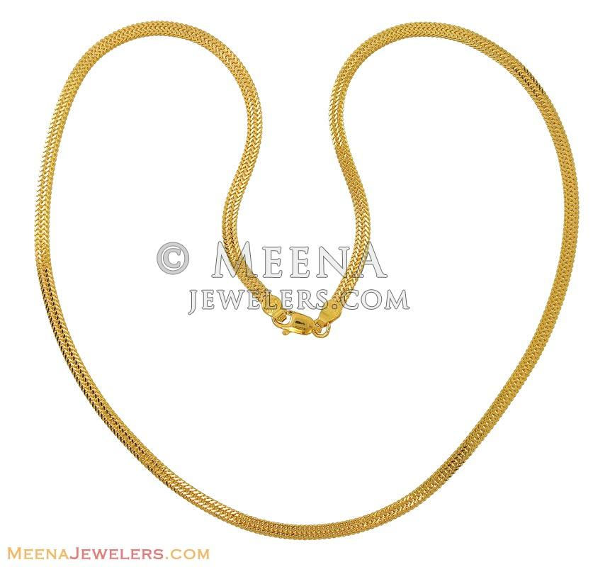 gold chain plain tail chains regal jewels online fox design pin