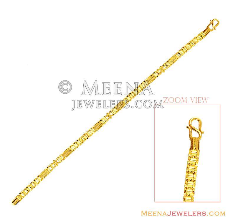 a208b1cc21b89 22k Light Weight Mens Bracelet - BrMb14171 - 22k gold mens bracelet ...