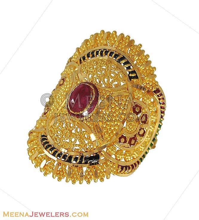 Indian Bridal Ring 22K Gold RiLg9020 22K Gold Indian Bridal