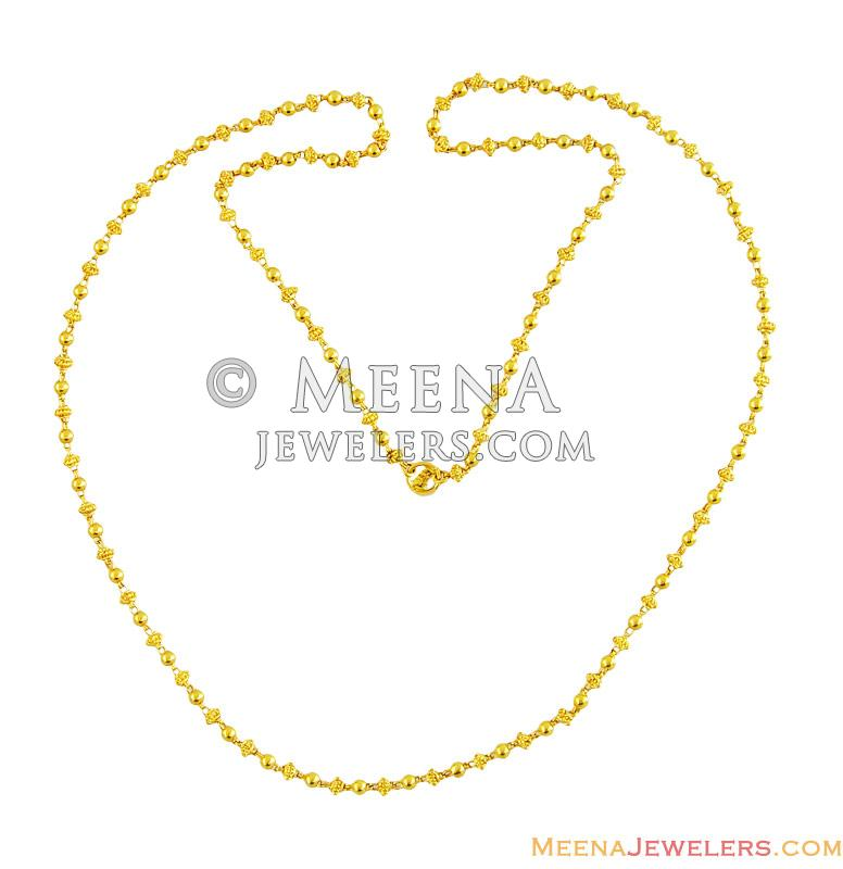 yellow necklace fancy details indian gold chain dokia chains