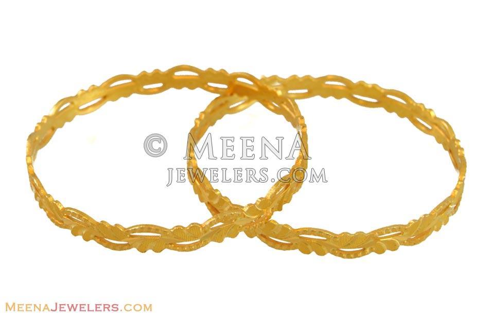 22K Gold Kids Bangles - BjBa10841 - 22K Gold Baby Bangles ...
