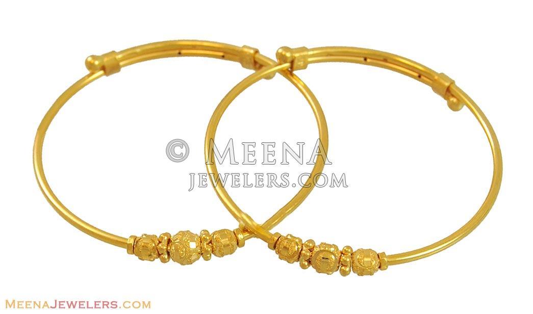 22K Kids Bangles (Indian style) - BaBy10727 - 22K Gold kids ...