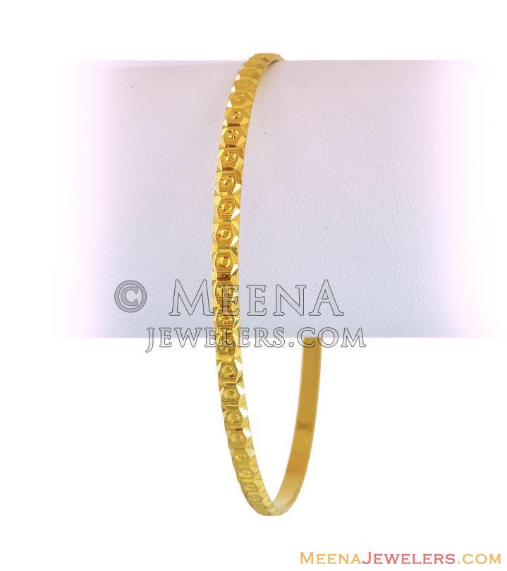 22K Gold Indian Bangles - BaGo12377 - 22k Indian gold