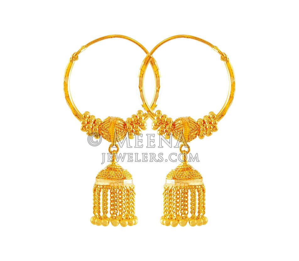 golf jewelry earrings emunique bridal crochet flower wire handmade gold hoop in fill plated charm