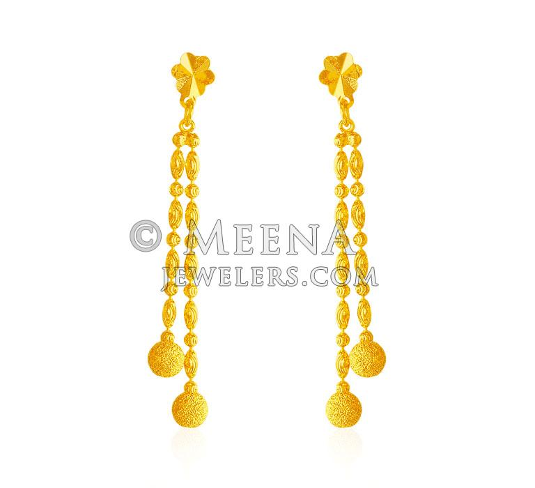 22kt Long Gold Earring