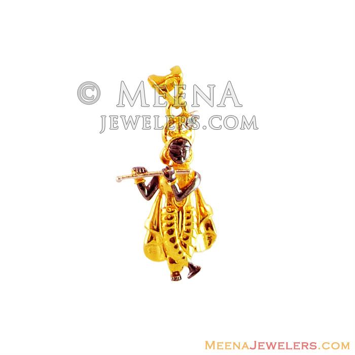 22k fancy lord krishna pendant pegf16285 22k gold krishna 22k fancy lord krishna pendant aloadofball Image collections