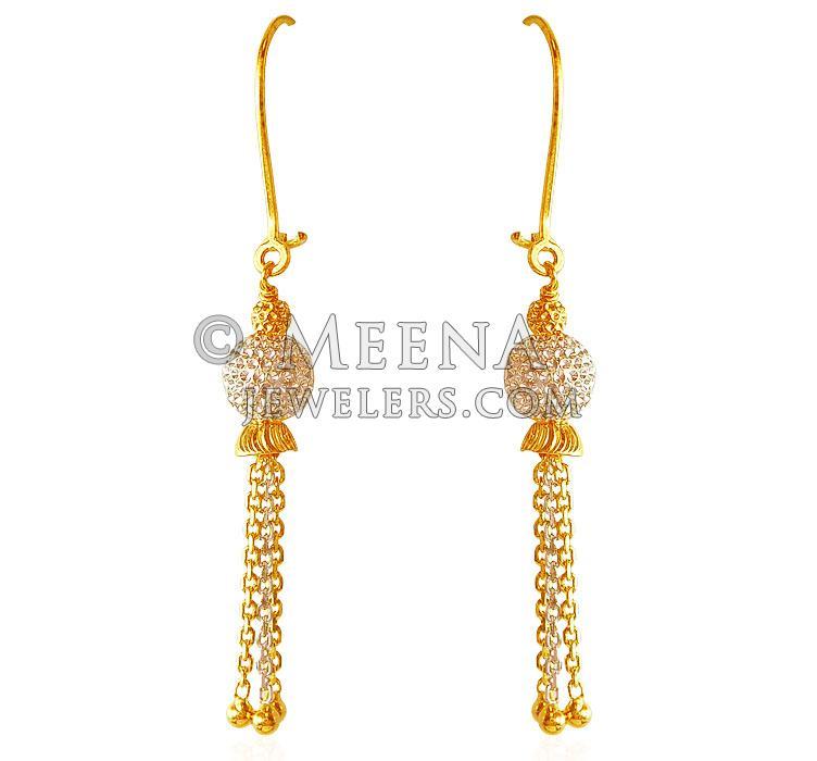 22Kt Gold Fancy Earrings ErFc 22Kt Gold fancy Earrings