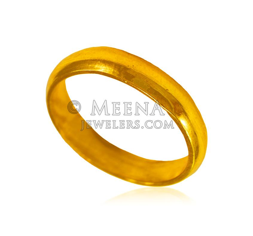 22 Karat Gold Wedding Band riwb24346 22 Kt Gold plain wedding