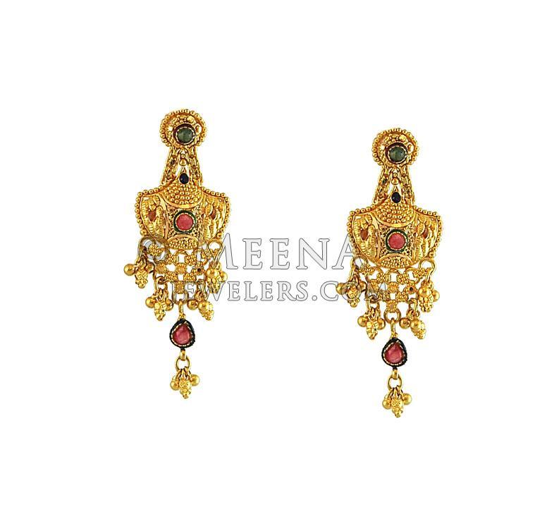 22k Gold Designer Bridal set - StBr11093 - 22k gold designer ...