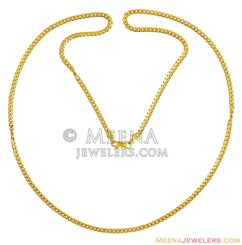 details chains plain chain necklace gold