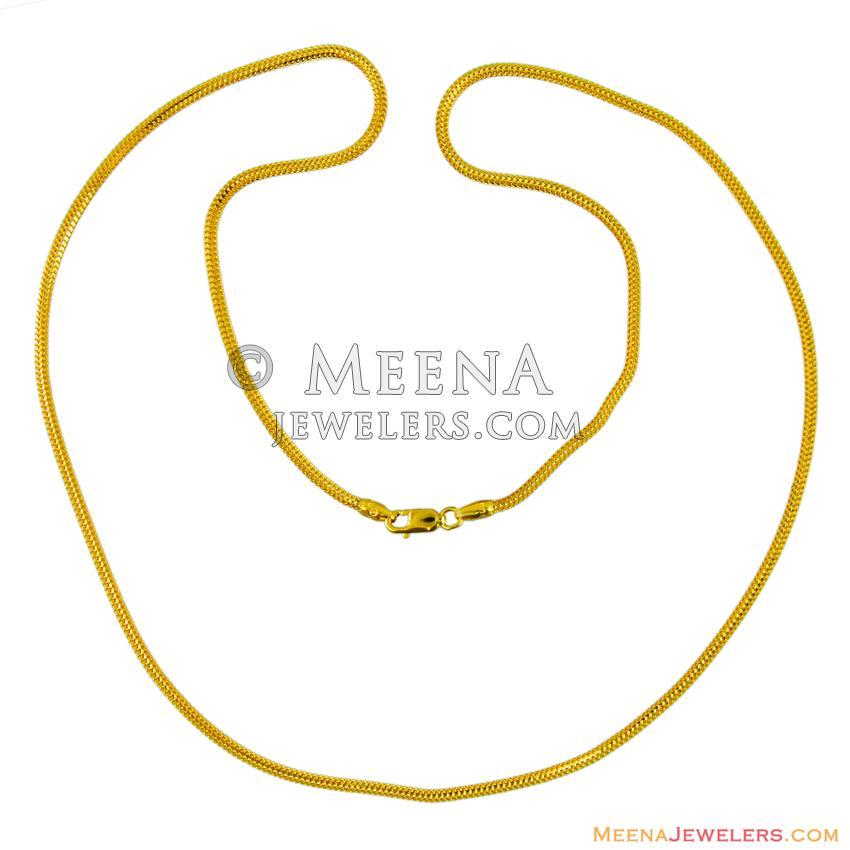 22K Round Design Mens Chain - ChMs11429 - 22Kt Gold Mens Chain ...