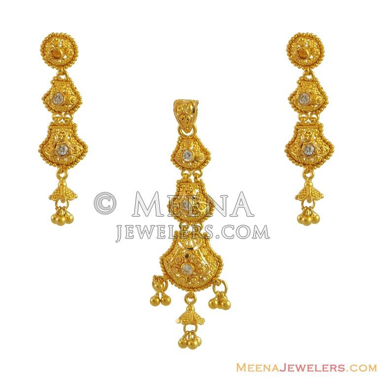 pendant sets laxmi water product indian gajalskhmi gold