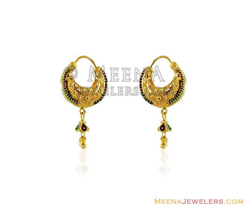 Luxury Gold Hoop Basket Earrings   Jewellry\'s Website
