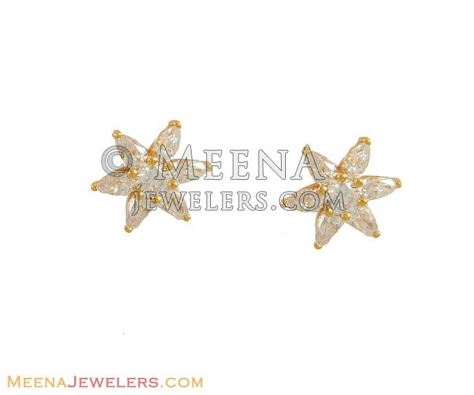 Star Shaped Gold Earrings Gold Earrings Star Shaped