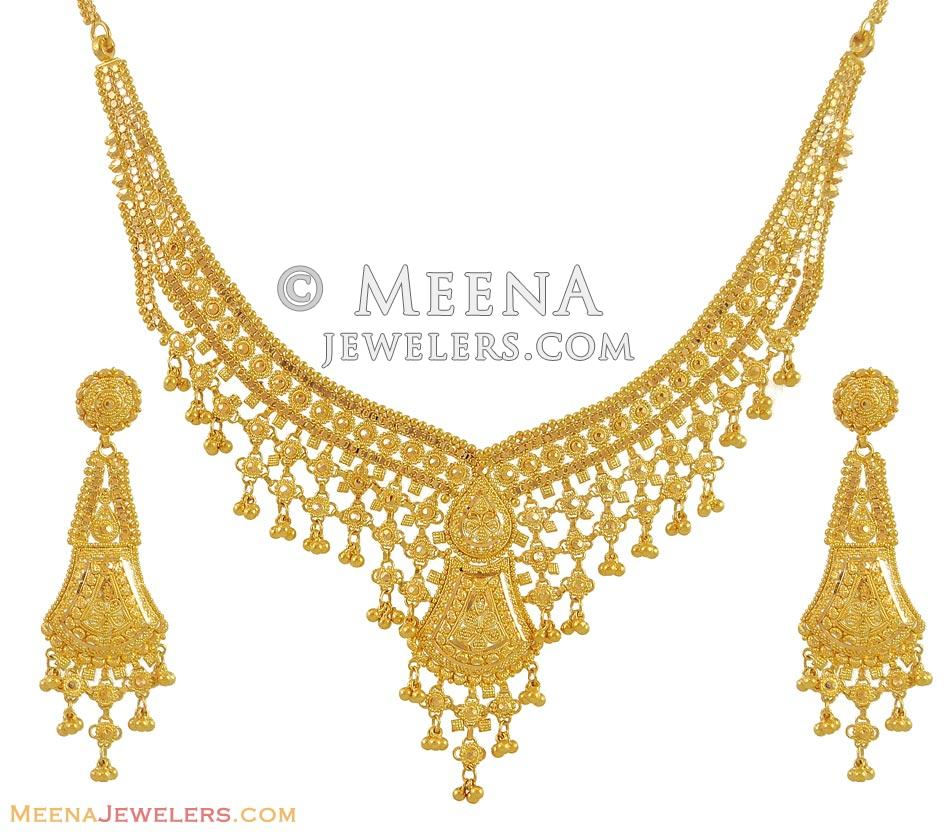 jewellery indian sets gold necklace mala wm