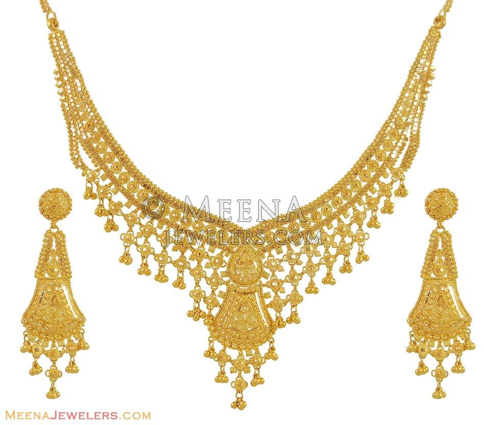 necklace pin in set sets india jewellery indian gold necklaces
