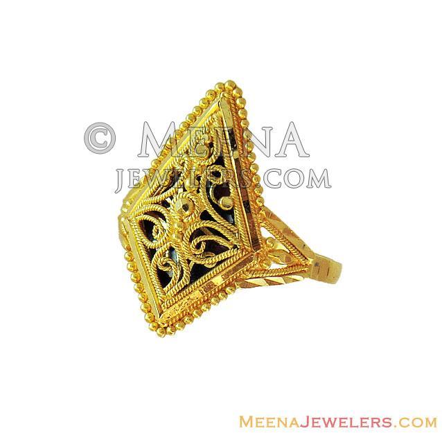 22K Gold Fancy Meenakari Ring RiLg US$ 283 22 Kt Gold