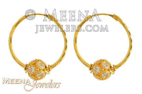 22k Gold Hoop Earrings