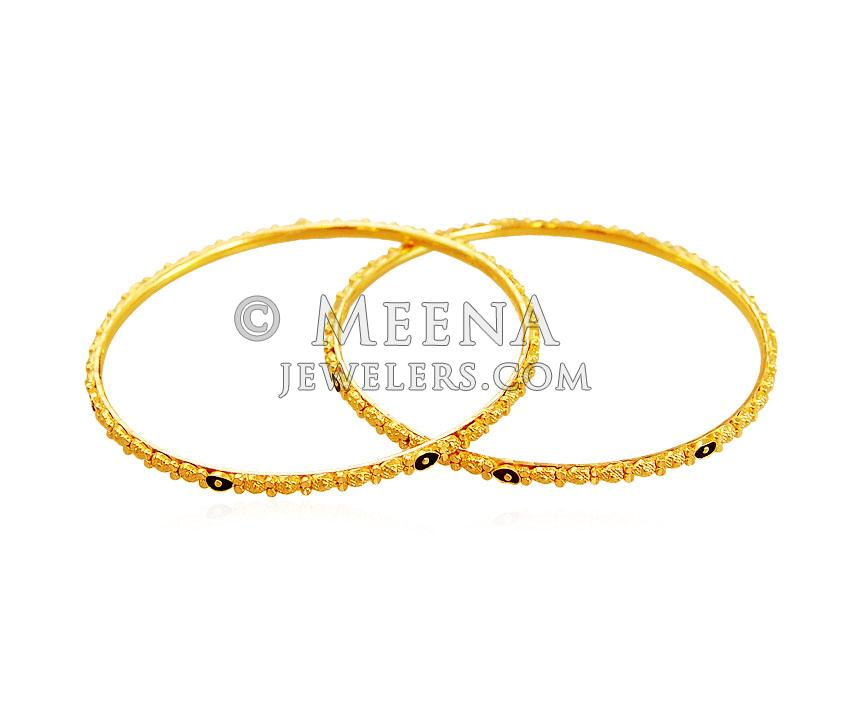 22K Gold Meenakari Kids Bangle - BjBa18871 - US$ 939 - 22K Gold ...