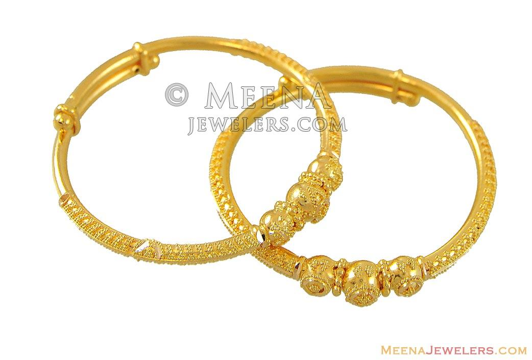 Indian Baby Bangles (22K Gold) - BjBa8959 - 22kt Gold ...