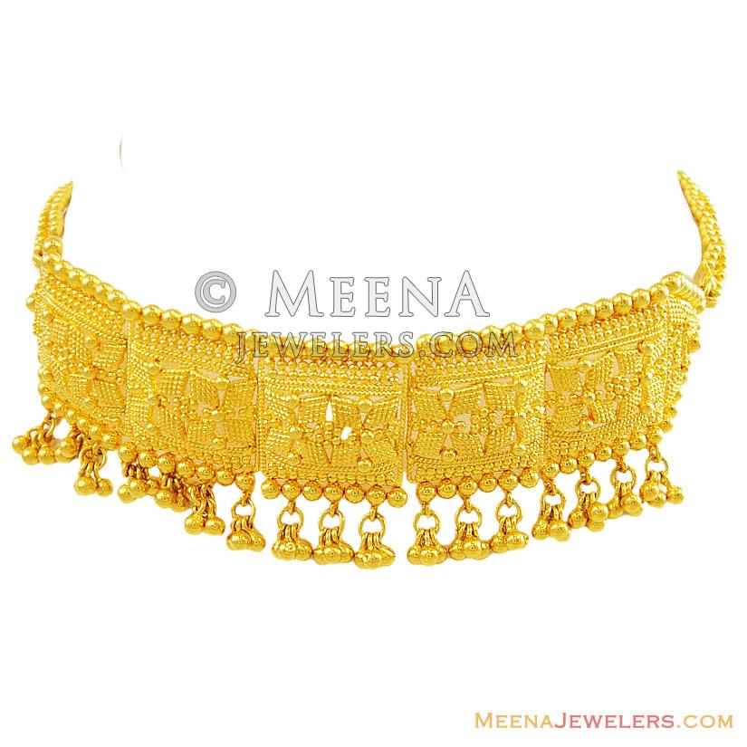gold choker necklace sets images