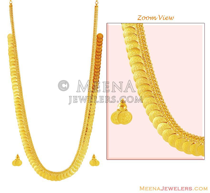 22k Long Kasulaperu Stgd16190 22k Gold Kasu Mala