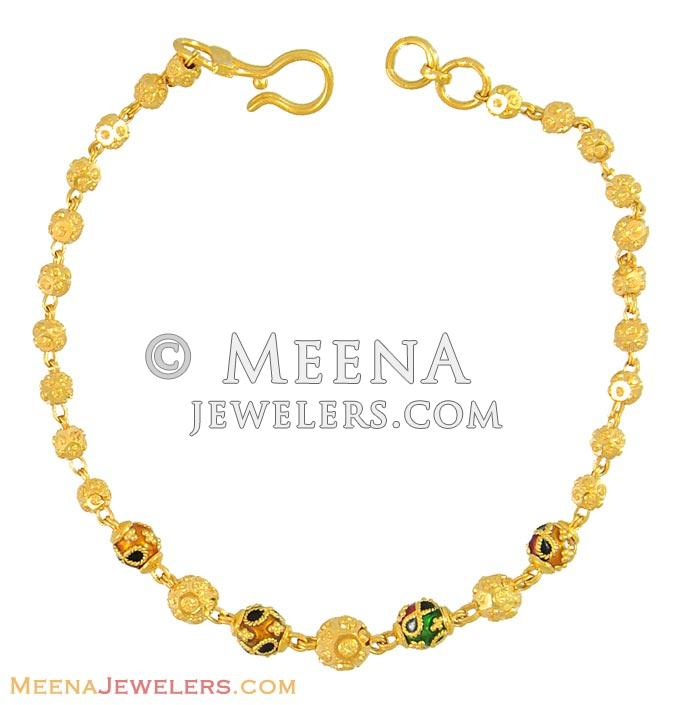 10k Yellow Gold and Created Emerald Bracelet 7  amazoncom