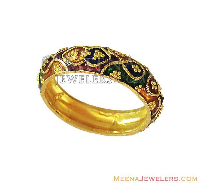 22k indian meenakari band rilg12449 22k gold indian