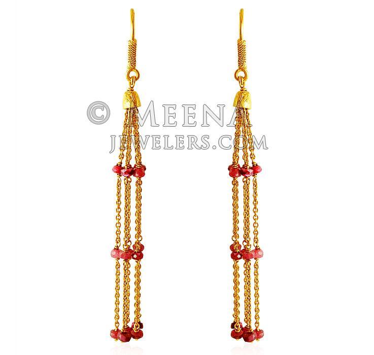 22Kt Long Gold Earring ErLn 22k Gold long Earrings with