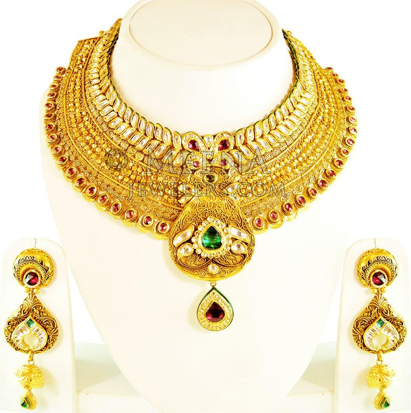 Antique Necklaces (22kt Gold) - Antique necklace Sets including ...