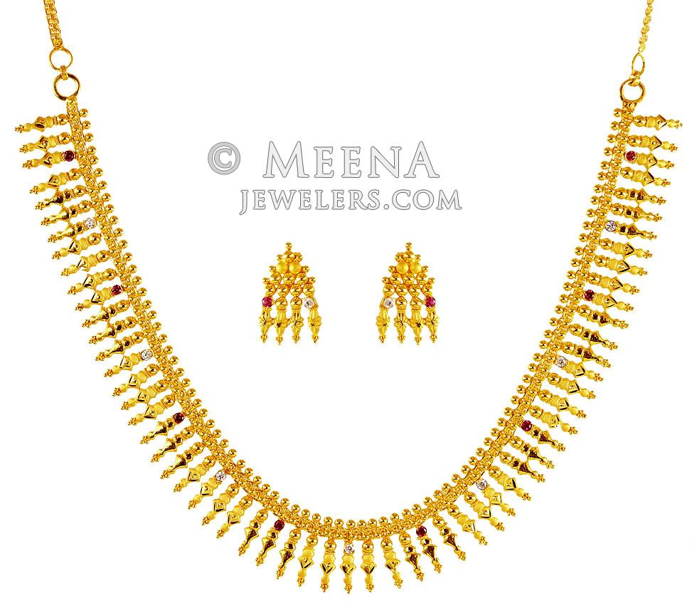 gold jewels south india latest linga necklace guttapusalu nithika