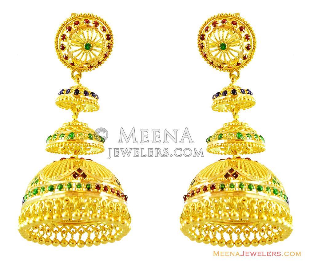 Gold Chandelier Earring Millie Gold Chandelier Earring